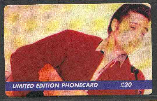 Telephone Card - Elvis Presley #3 - Limited Edition �20 discount phone card