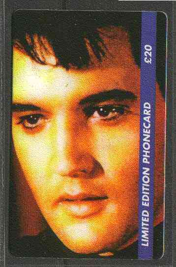 Telephone Card - Elvis Presley #6 - Limited Edition �20 discount phone card