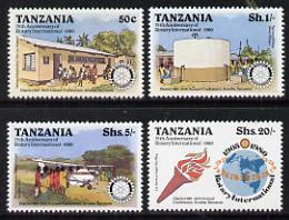 Tanzania 1980 75th Anniversary of Rotary International set of 4 unmounted mint SG 278-81*