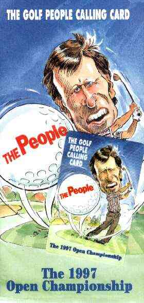 Telephone Card - United Telecom 'Golf People' (Nick Faldo) Calling Card #1 in sealed bag with illustrated literature for 1997 Open Championship