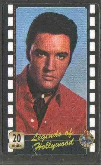 Telephone Card - Legends of Hollywood - Elvis Presley #2 - Limited Edition 20 units phone card (card No UT 0354)