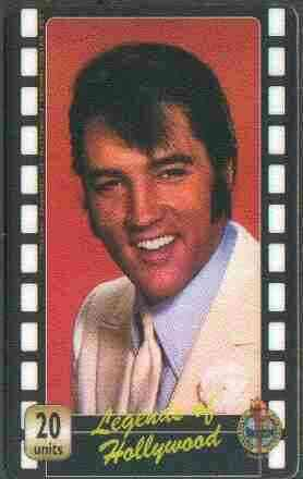 Telephone Card - Legends of Hollywood - Elvis Presley #3 - Limited Edition 20 units phone card (card No UT 0355)