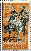 Spanish Sahara 1958 Don Quixote & Sancho Panza on Horseback 15c + 5c from Child Welfare Fund set unmounted mint, SG 147*