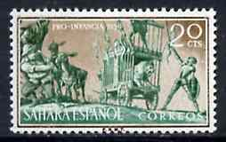 Spanish Sahara 1958 Don Quixote & the Lion 20c from Child Welfare Fund set unmounted mint, SG 148*
