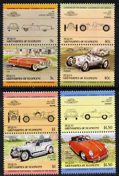 St Vincent - Bequia 1984 Cars #1 (Leaders of the World) set of 8 unmounted mint