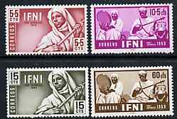 Ifni 1953 Child Welfare set of 4 Native Musicians, SG 93-96 unmounted mint*