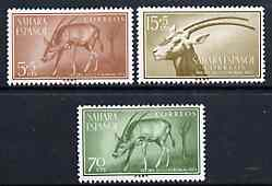 Spanish Sahara 1955 Colonial Stamp Day set of 3 (Scimita Oryx) unmounted mint SG 120-22*