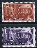 Spanish Guinea 1955 Birth Centenary of Iradier (Explorer) unmounted mint set of 2, SG 395-96