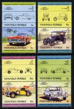 Tuvalu - Nanumaga 1984 Cars #2 (Leaders of the World) set of 8 unmounted mint