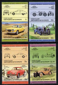 St Vincent - Union Island 1985 Cars #1 (Leaders of the World) set of 8 unmounted mint