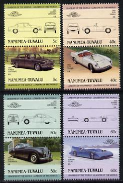 Tuvalu - Nanumea 1985 Cars #1 (Leaders of the World) set of 8 unmounted mint