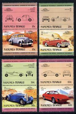 Tuvalu - Nanumea 1985 Cars #2 (Leaders of the World) set of 8 unmounted mint