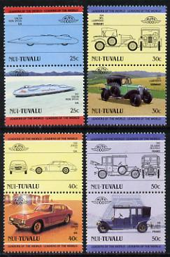 Tuvalu - Nui 1985 Cars #1 (Leaders of the World) set of 8 unmounted mint