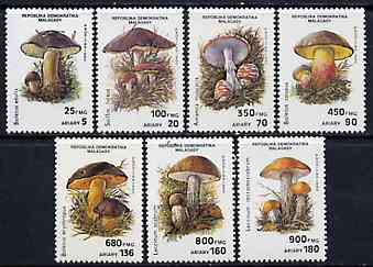 Malagasy Republic 1991 Fungi complete set of 7 unmounted mint, SG 836-42, Mi 1288-94*