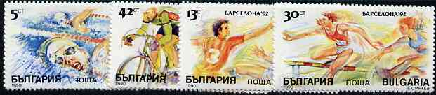Bulgaria 1990 Olympic Games set of 4 unmounted mint, SG 3694-97, Mi 3846-49*