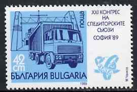 Bulgaria 1989 Transport Congress 42s (Truck) unmounted mint, SG 3635, Mi 3780