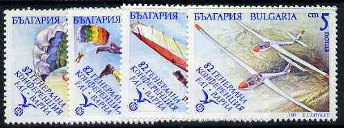 Bulgaria 1989 Airports Conference (Aerial Sports) set of 4 unmounted mint, SG 3651-54, Mi 3801-04*