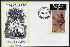 Eynhallow 1982 Shells (Pelicans Foot) imperf souvenir sheet (\A31 value) on cover with first day cancel