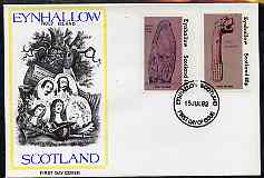 Eynhallow 1982 Viking Antiqueties imperf set of 2 (40p Viking Tomb Stone & 60p Figurehead) on cover with first day cancel
