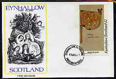 Eynhallow 1982 Viking Antiqueties imperf souvenir sheet (\A31 value Viking Weather Vane) on cover with first day cancel