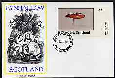 Eynhallow 1982 Fungi (Fly Agaric) imperf souvenir sheet (\A31 value) on cover with first day cancel