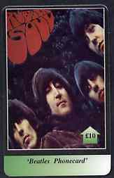 Telephone Card - Beatles �10 phone card #08 showing Portraits of the 4 'Rubber Soul'