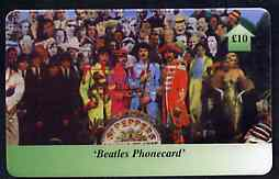 Telephone Card - Beatles �10 phone card #10 showing Crowd Scene 'Sargeant Pepper'