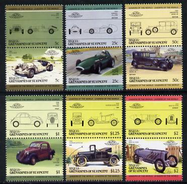 St Vincent - Bequia 1985 Cars #3 (Leaders of the World) set of 12 unmounted mint
