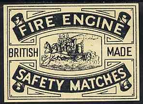 Match Box Labels - Fire Engine Dozen size label superb unused condition (1930's)