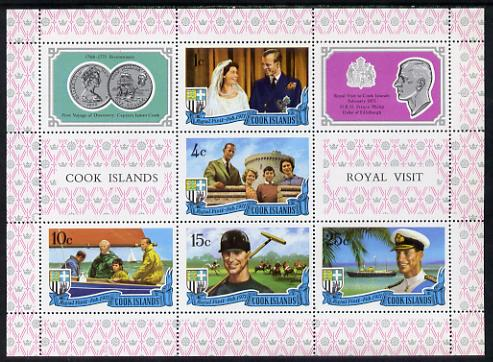 Cook Islands 1971 Royal Visit m/sheet unmounted mint SG MS 350