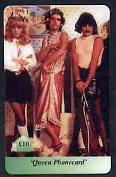 Telephone Card - Queen �10 phone card #2 showing the group in drag