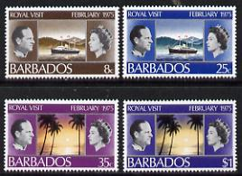 Barbados 1975 Royal Visit set of 4 unmounted mint, SG 506-09