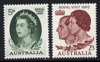 Australia 1963 Royal Visit set of 2 unmounted mint, SG 348-49