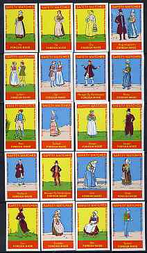 Match Box Labels - complete set of 20 Belgian Folklore Costumes superb unused condition (Belgian)