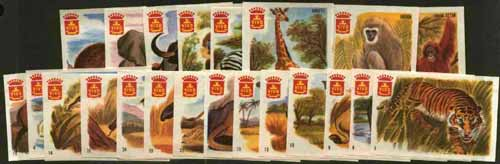 Match Box Labels - complete set of 25 Animals superb unused condition (Dutch Vivo set issued in 1963)