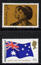 Australia 1970 Royal Visit set of 2 unmounted mint (SG 456-57)