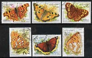 Afghanistan 1998 Butterflies complete perf set of 6 values, cto used*