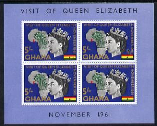 Ghana 1961 Royal Visit imperf m/sheet unmounted mint, SG MS 273a