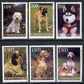 Turkmenistan 1998 Dogs  perf set of 6 values very fine cto used*