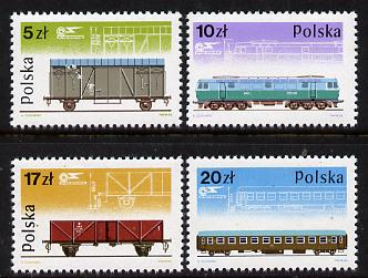 Poland 1985 Railway Rolling Stock set of 4 unmounted mint, SG 3006-9