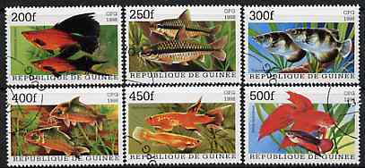 Guinea - Conakry 1998 Fish complete perf set of 6 values, cto used*