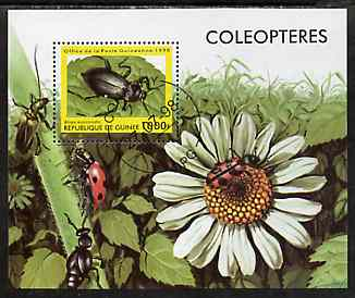 Guinea - Conakry 1998 Insects perf m/sheet very fine cto used (Insects on Flower)