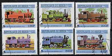 Benin 1998 Railways complete perf set of 6 values very fine cto used*
