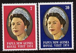 Papua New Guinea 1974 Royal Visit set of 2 unmounted mint, SG 268-69