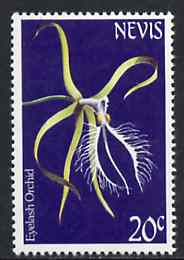 Nevis 1984 Eyelash Orchid 20c from Flowers def set unmounted mint, SG 188*