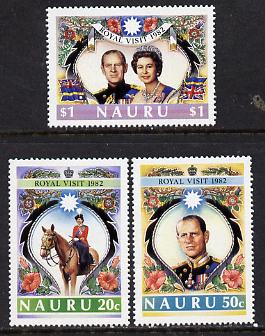 Nauru 1982 Royal Visit set of 3 unmounted mint SG 272-74