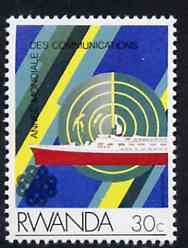 Rwanda 1984 Radar & Liner 30c from Communications set unmounted mint, SG 1187*