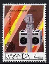Rwanda 1984 Radio & Transmitter 4f50 from Communications set unmounted mint, SG 1188*