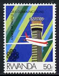 Rwanda 1984 Airliner & Control Tower 50f from Communications set unmounted mint, SG 1191*