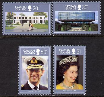 Cayman Islands 1983 Royal Visit set of 4 unmounted mint, SG 569-72